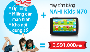 Giá máy tính bảng nahi kids N70