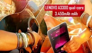 Lenovo A3300 thiết kế 7 inch cầm vừa vặn trên tay và dễ dàng mang di động bên mình