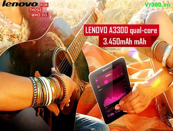 Lenovo A3300 thiết kế 7 inch cầm vừa vặn trên tay và dễ dàng mang di động bên mìnhmáy tính bảng lenovo a3300