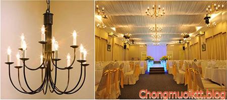 Sử dụng đèn led nến cho những ngôi biệt thử tăng thêm nét đẹp duyên dáng trang nhã cho ngôi nhà