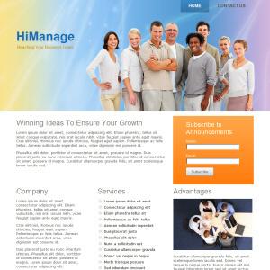 theme wordpress hi manage