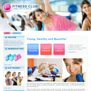 theme wordpress mau Fitness Club