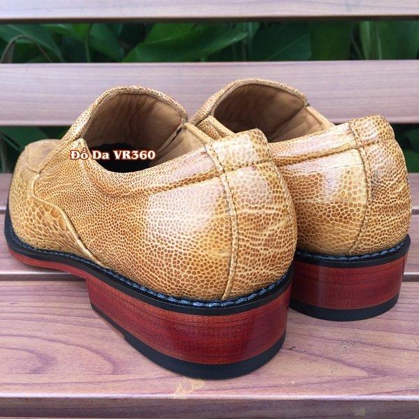 Giày Tây Da Đà Điểu Thật Kiểu Vây Chân DD07